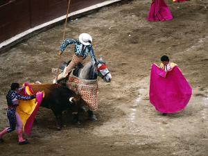 Crowds at a Stadium for a Bullfight, Quito, Ecuador by Paul Harris
