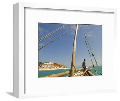 East Africa, Tanzania, Sailing an Arab Dhow in Zanzibar