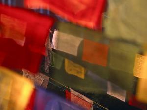 Prayer Flags Festoon the Stupa at Boudinath, a Centre of Tibetan Buddhism, Kathmandu, Nepal by Paul Harris