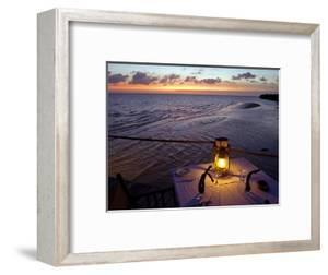 Sunset Dining on the Jetty, Fundu Lagoon Resort, Pemba Island, Zanzibar, East Africa by Paul Harris