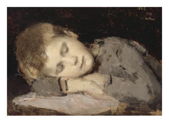 Paul Henner endormi-Jean Jacques Henner-Giclee Print