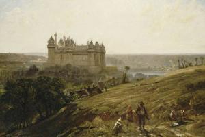 Le Château de Pierrefonds en restauré by Paul Huet