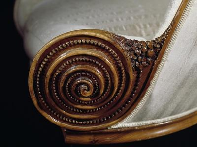 Spiral Motif, Detail from Art Deco Style Armchair, Ca 1913
