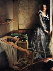 Charlotte Corday after the Murder of Marat, 1861 by Paul-Jacques-Aime Baudry