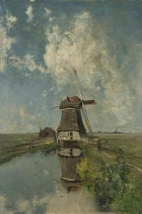 A Windmill on a Polder Waterway, Known as in the Month of July, c.1889 by Paul Joseph Constantin Gabriel