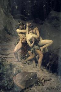 A Rape in the Stone Age, 1888 by Paul Joseph Jamin