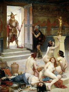 Brennus and His Share of Spoils or Spoils of Battle by Paul Joseph Jamin
