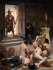 Brennus, Leader of the Senone Celts who Sacked Rome c. 390-83 BC by Paul Joseph Jamin