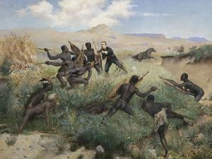 Death of the Prince Imperial in Zululand, 1 June 1879 by Paul Joseph Jamin