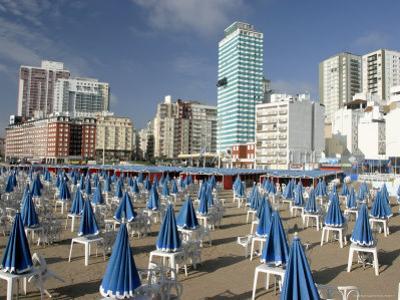 Furled Beach Umbrellas at Playa Popular, Early Morning