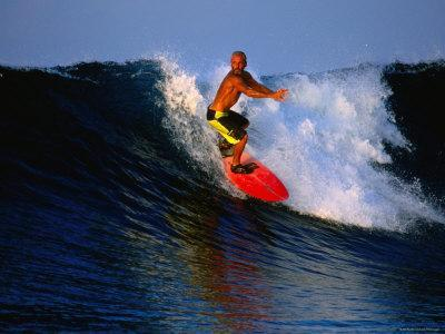 Surfer on Wave Known as Hollow Trees, Mentawai Islands, Sumatra, Indonesia