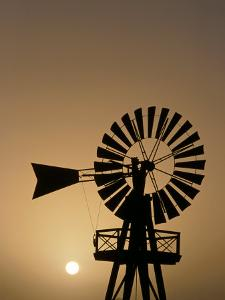 Windmill at Sunset, Isla De Lanzarote, Canary Islands, Spain by Paul Kennedy