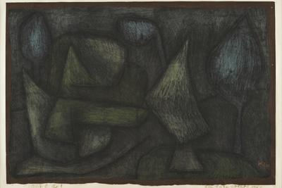 A Park Late in the Evening (Ein Park Abends Spät) by Paul Klee