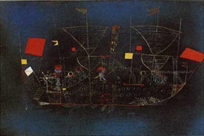 Abenteuer-Schiff by Paul Klee