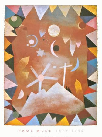 Above the Mountain Peaks by Paul Klee