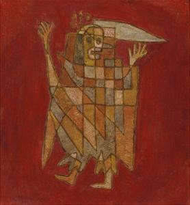 Allegorical Figure; Allegorische Figurine (Verblassung) by Paul Klee