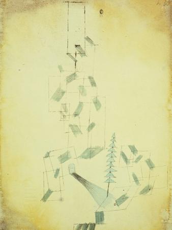 Bau Am Bach by Paul Klee