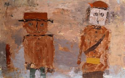 Bride and Groom in Autumn of Life by Paul Klee