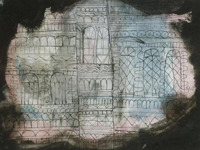 Castle Burning; Schloss in Flammen by Paul Klee