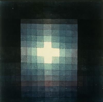 Christliches grabmahl-kreuzbild by Paul Klee