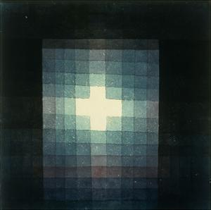 Christliches grabmahl-kreuzbild by Paul Klee