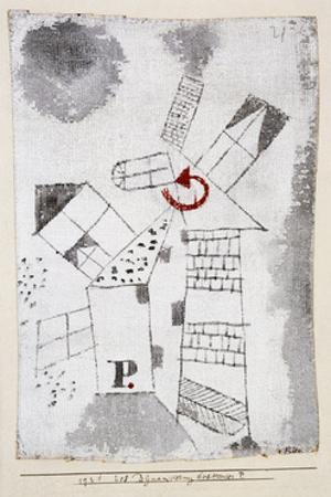 Dynamization of Houses P. by Paul Klee
