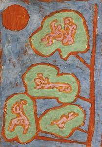 Figurative Leaves; Figurale Blatter by Paul Klee