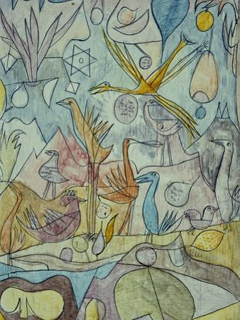 Flock of Birds; Vogelsammlung by Paul Klee