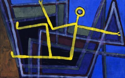Framed; Im Gebalk by Paul Klee