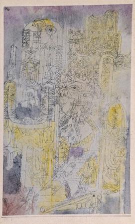 Gothic Rococo; Gotisches Rococo by Paul Klee
