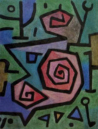 Heroische Rosen by Paul Klee