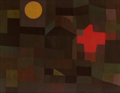 Incendio Sotto la Luna Piena by Paul Klee