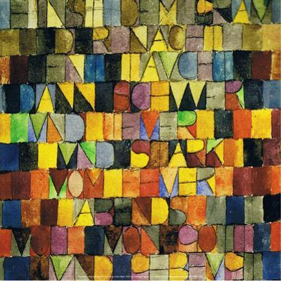Once Emerged from the Gray of the Night, 1918 by Paul Klee