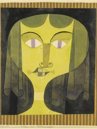 Portrait of a Violet-Eyed Woman by Paul Klee