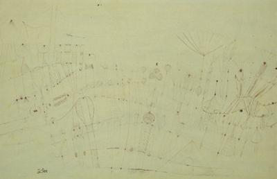 Prehistoric Vegetation; Praehistorische Flora by Paul Klee