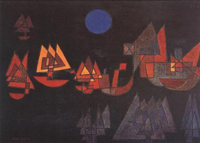 Schiffe im Dunkeln, c.1927 by Paul Klee