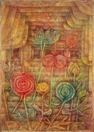 Spiral Flowers by Paul Klee