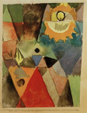Still Life with Gas Lamp by Paul Klee