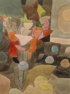 Still Life with Gladioli; Gladiolen Still Leben by Paul Klee