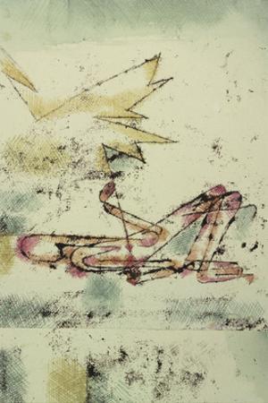 Struck by Lightning; Blitzschlag by Paul Klee