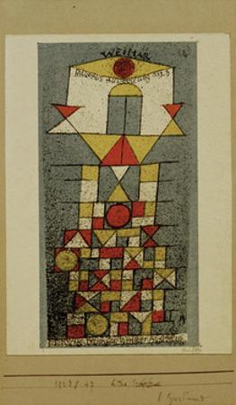 Sublime Side Postcard by Paul Klee