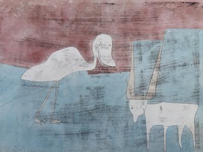 The Friendship; Tier Freundschaft by Paul Klee