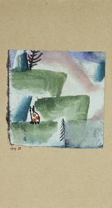 The Territory of a Tomcat; Revier Eines Katers by Paul Klee