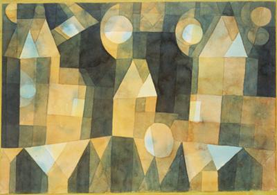 Three Houses and a Bridge; Drei Hauser an Der Brucke by Paul Klee