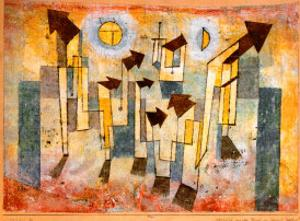 Wandbild aus dem Tempel der Sehnsucht Dorthin by Paul Klee