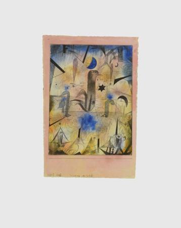 Warnung der Schiffe by Paul Klee