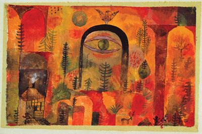 with the Eagle 1918 by Paul Klee