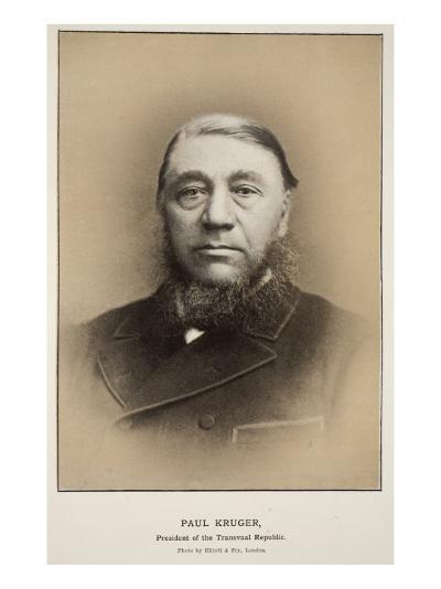 Paul Kruger, President of the Transvaal Republic-Elliott & Fry Studio-Giclee Print
