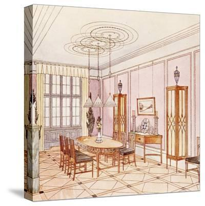 Design for a Dining Room, from 'Documents Architecture Moderne' (Colour Litho)