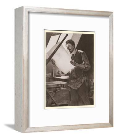 Belgian Printmaker Félicien Rops in his Studio
